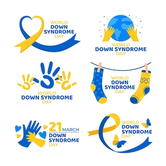 World down syndrome day label collection