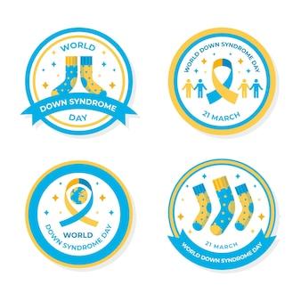Pacchetto di etichette per la giornata mondiale della sindrome di down