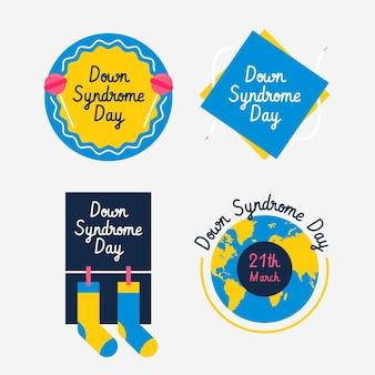 Etichette della giornata mondiale della sindrome di down