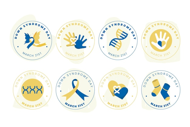 World down syndrome day labels