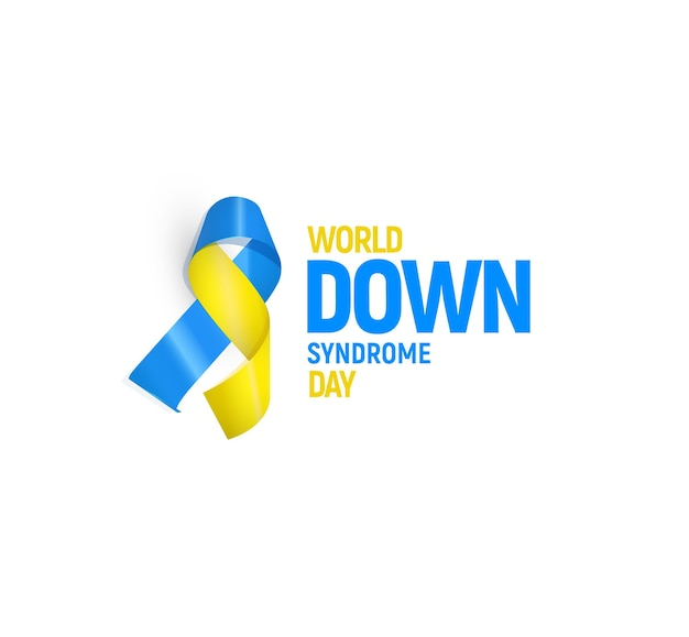 World down syndrome day vector illustration template