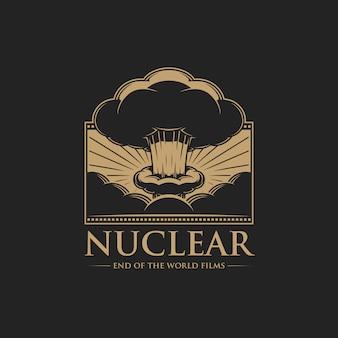 World ends filmsのロゴのテンプレート