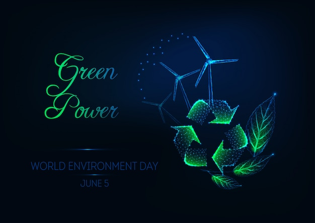 World environment day banner with recycle sign