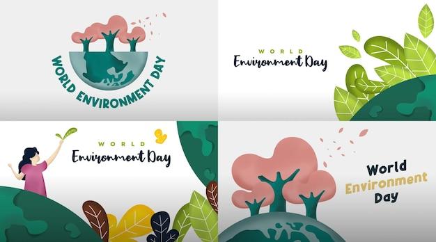 World environment day card illustration.
