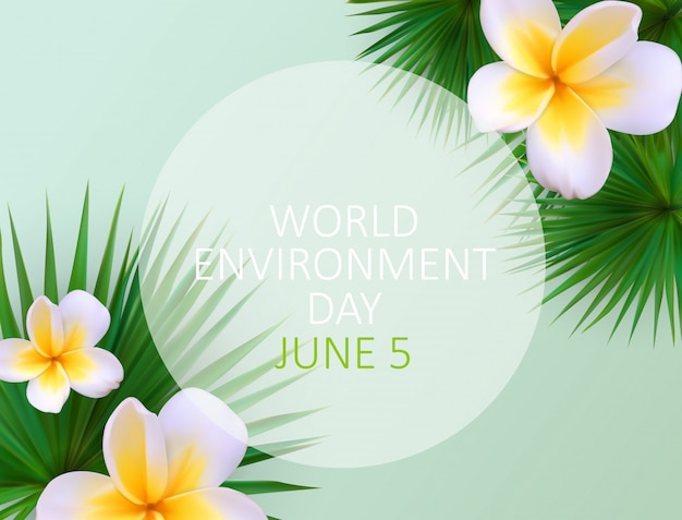 World environment day concept background.