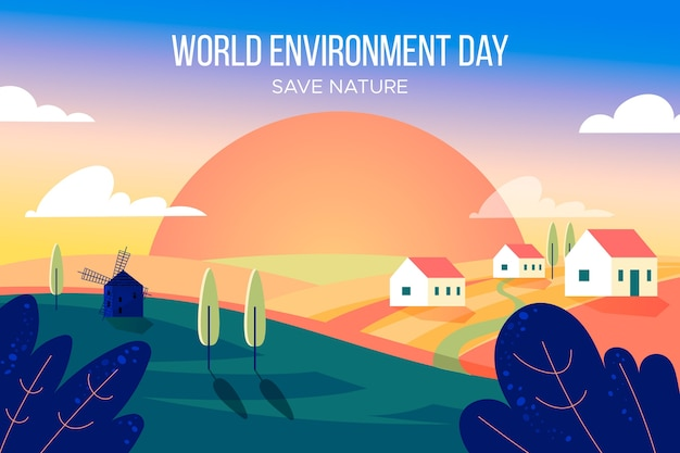 World environment day in flat design