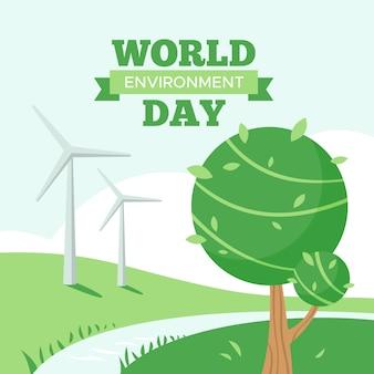 World environment day flat design