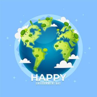 Giornata mondiale dell'ambiente in design piatto
