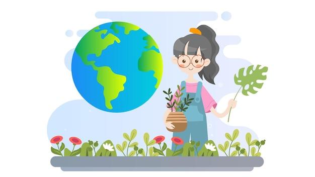 World environment day illustration background