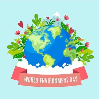 Всемирный день окружающей среды в плоском дизайне