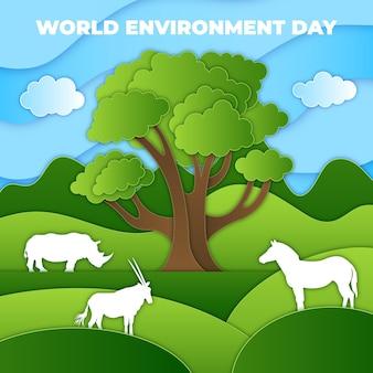 종이 스타일의 세계 환경의 날