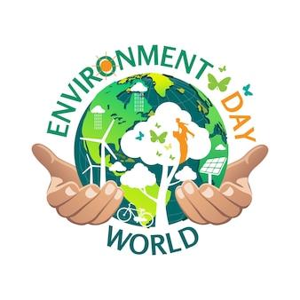 Шаблон дизайна логотипа всемирного дня окружающей среды