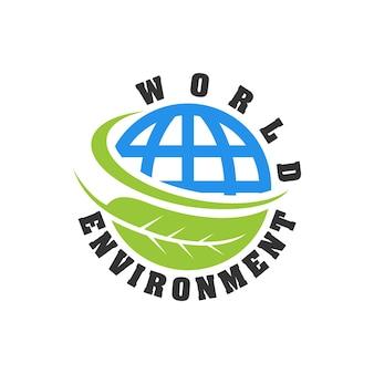 세계 환경의 날 로고 템플릿