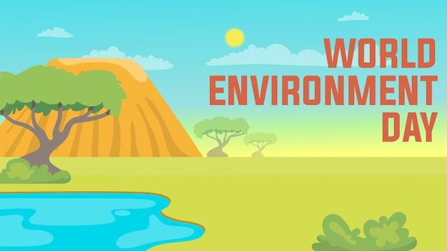 World environment day savana