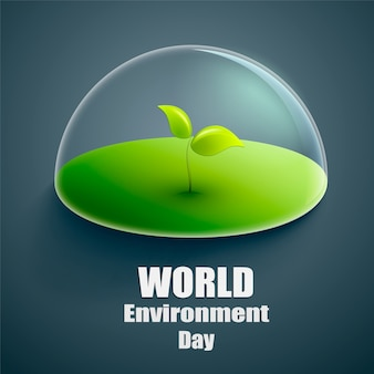 World environment day vector label or banner