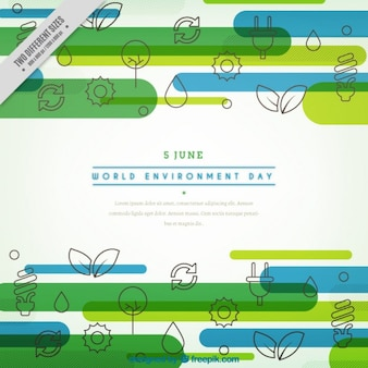 World environment day with icons background