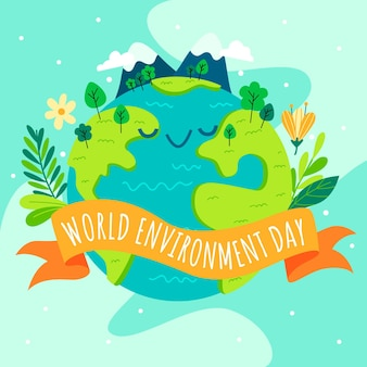 World environment day with planet