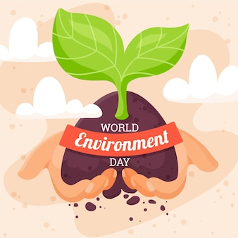 World environment day with plant