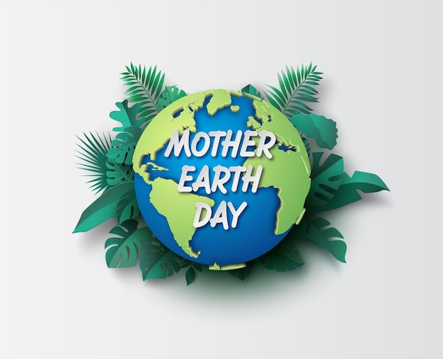 World environment and earth day concept,paper cut , paper collage style with digital craft .