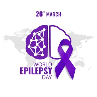 World epilepsy day. purple day.