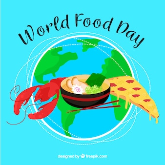 세계 음식의 날 backgorund