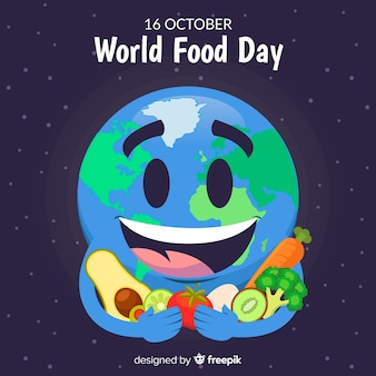World food day background with earth