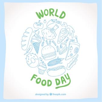 Giornata alimentare mondiale in blu e verde