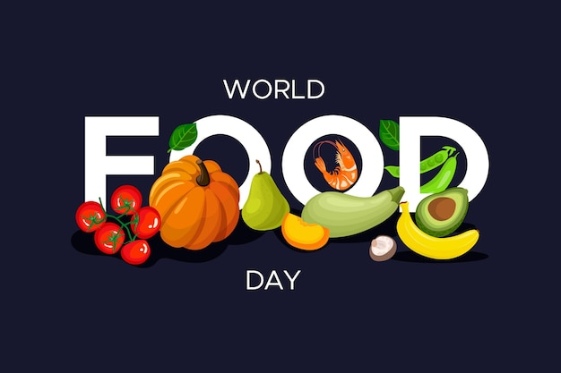 World food day celebration flat design