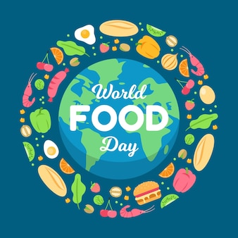 World food day celebration illustrated