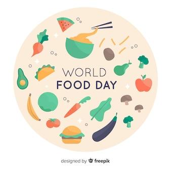 フラットなデザインの世界食糧日コンセプト
