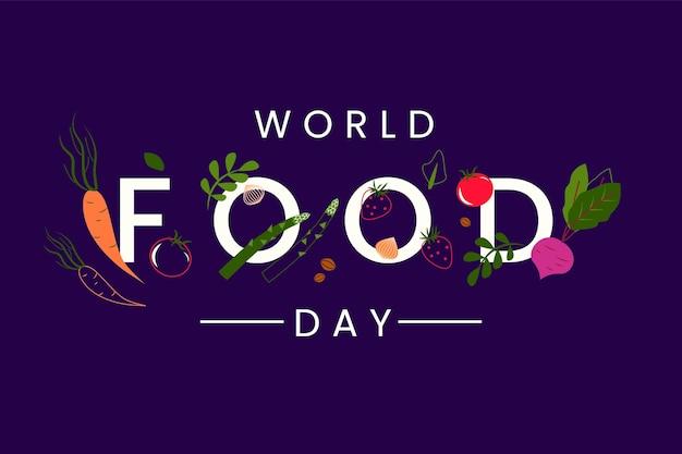 Tema dell'illustrazione dell'evento della giornata mondiale dell'alimentazione