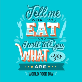 World food day event lettering design