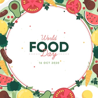 World food day flat design background