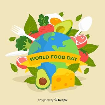世界の食の日フラットデザイン