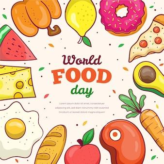 World food day hand-drawn
