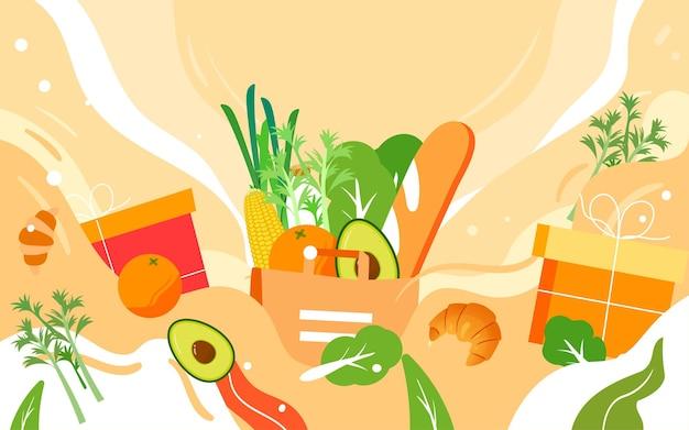 세계 식품의 날 건강한 식생활 그림 녹색 식품 안전 포스터