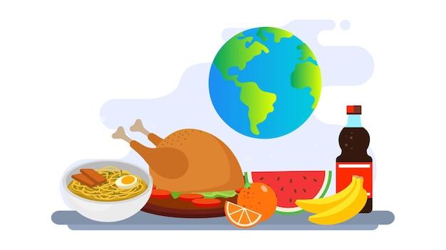 World food day illustration background
