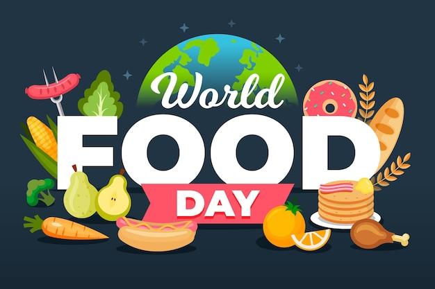 Concetto di illustrazione della giornata mondiale dell'alimentazione