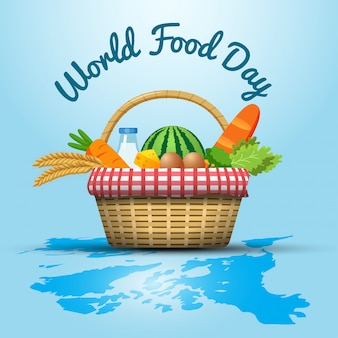 World food day illustration concept