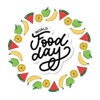 World food day  illustration. suitable for greeting card, poster and banner.