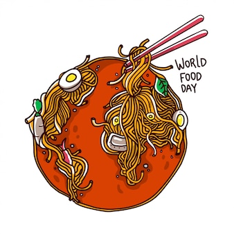 World food day illustration