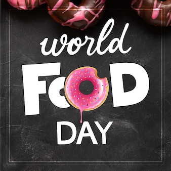 World food day lettering design