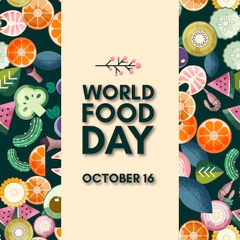World food day lettering. october 16