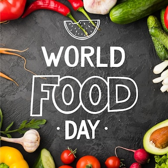 World food day lettering style