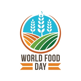 World food day logo badge concept