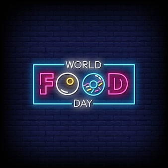 World food day neon signs