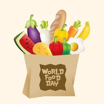 Бумажный пакет всемирного дня продовольствия