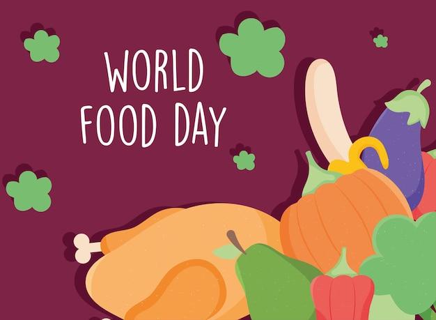 Плакат всемирного дня еды