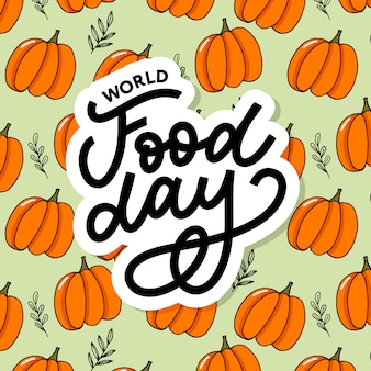 World food day sticker lettering