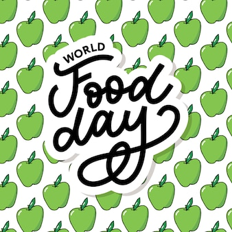 World food day  with apple pattern
